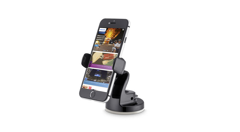 Support + Smartphone Philips Support Ventouse Smartphone Voiture DLK23012B