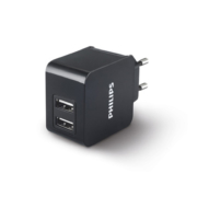 Philips Chargeur mural Ultra-rapide double USB DLP2307/12