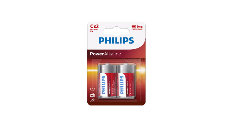 Emballage Philips Pile Ultra Alkaline C LR14P2B