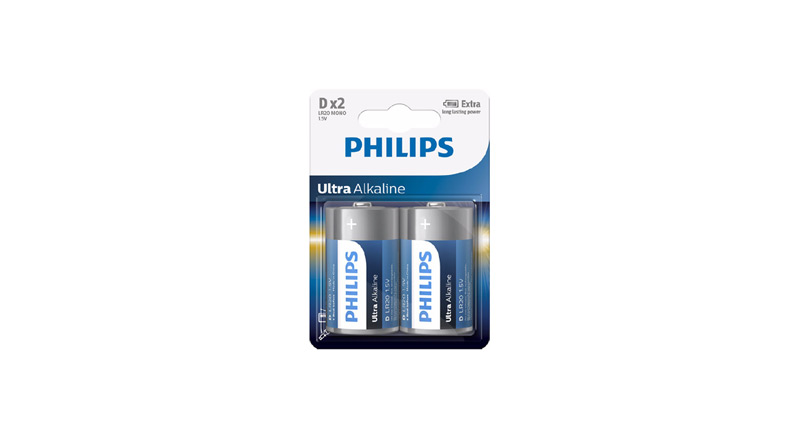 Emballage Philips Pile Ultra Alkaline D LR20E2B