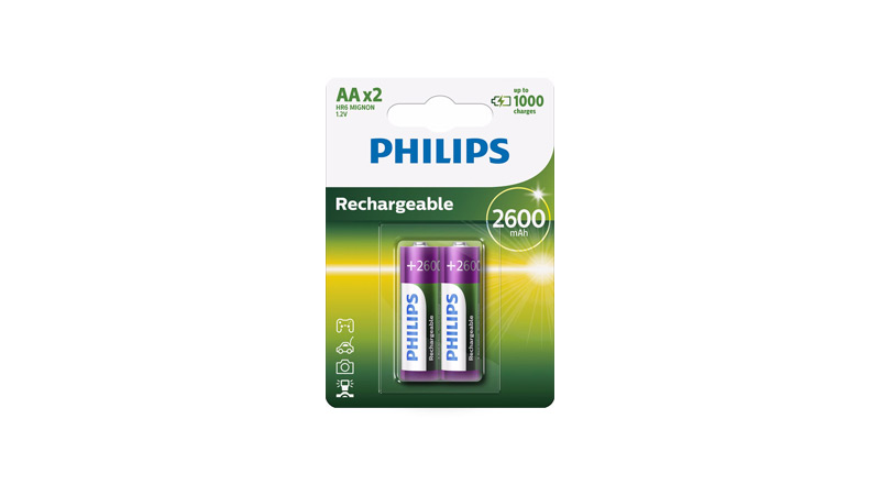 Emballage Philips Pile Rechargeable AA R6B2A260