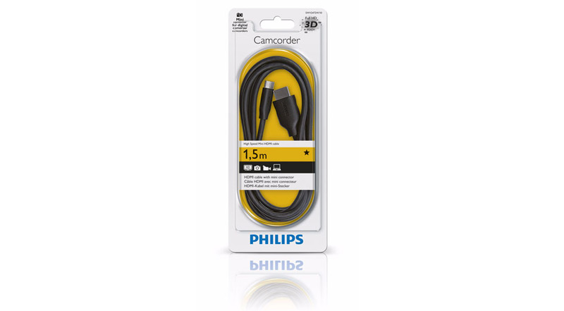 Philips Câble HDMI - Mini (C) HDMI 1.5 m SWV2472W
