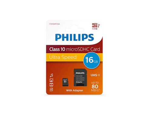 Philips Micro SD-CARD 16Go Class 10 PHSD16GBHCCL10