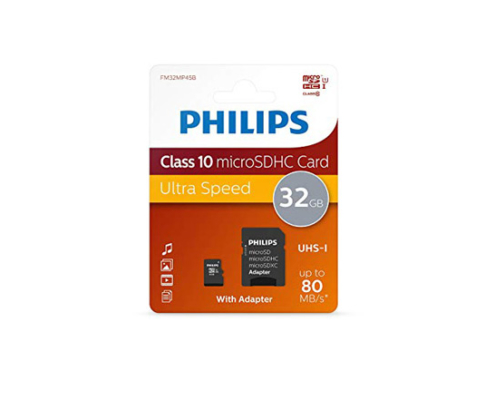 Philips Micro SD-CARD 32Go Class 10 PHSD32GBHCCL10
