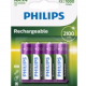 Pile Philips rechargeable