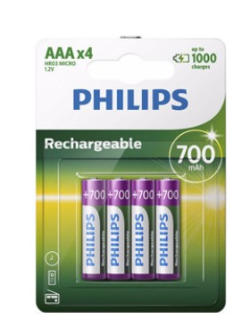 piles philips rechargeables