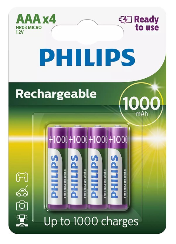 PILES RECHARGEABLES AAA R03B4RTU10