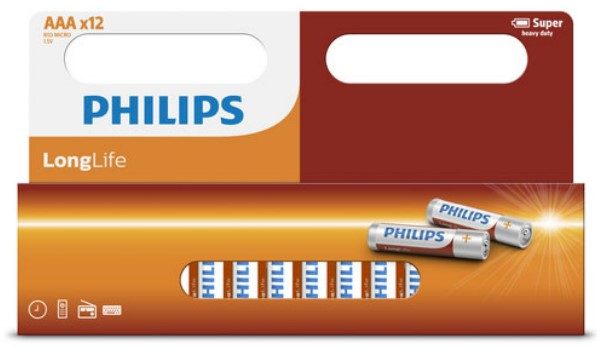 PILE PHILIPS LONGLIFE AAA-R03L12W